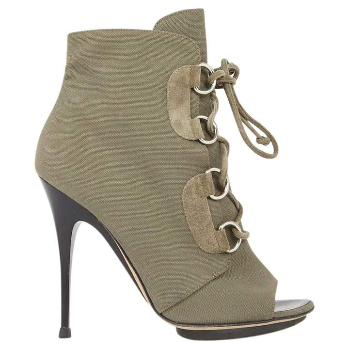 Giuseppe Zanotti Khaki Cloth Ankle boots