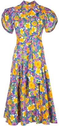 Lhd Floral-Print Poplin Dress