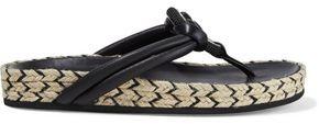 Rag & Bone Eva Embellished Leather Espadrille Sandals