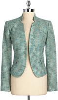 Calvin Klein SUITS SEPARATES Lurex Tweed Blazer