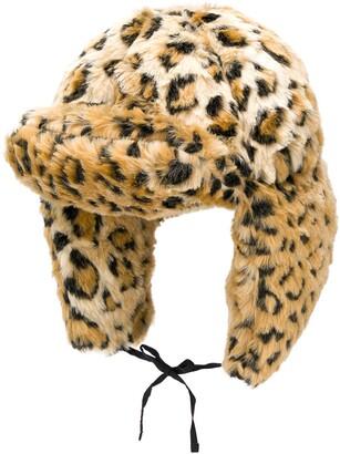 R 13 leopard print hat