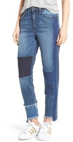 Joe's Jeans Women's Debbie Patchwork Ankle Straight Leg Jeans
