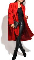 Everest Red Wool-Blend Car Coat - Plus Too