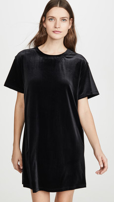 Stateside Velvet Tee Dress