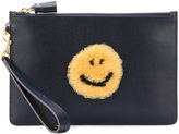 Anya Hindmarch smile clutch bag - women - Bos Taurus - One Size