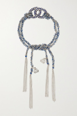 Carolina Bucci Balance Lucky 18-karat White Gold, Sapphire And Silk Bracelet - one size