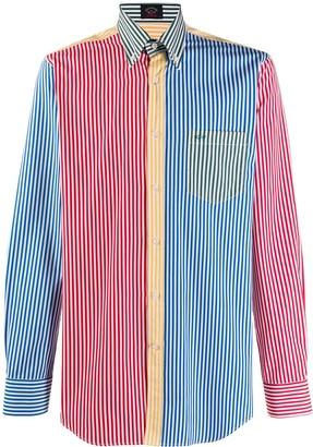 Paul & Shark Striped Colour-Block Shirt