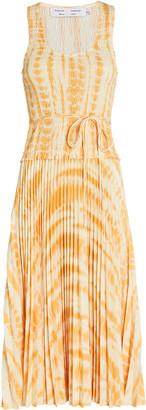 Proenza Schouler White Label Tie-Dye Pleated Midi Dress