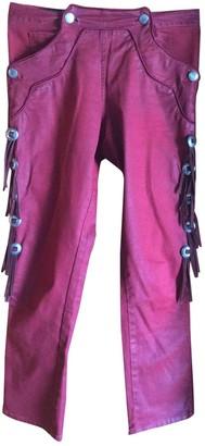 Isabel Marant Burgundy Cotton Trousers