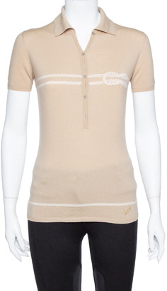 Gucci Beige Wool Nautical Knot Detail Polo T-Shirt S