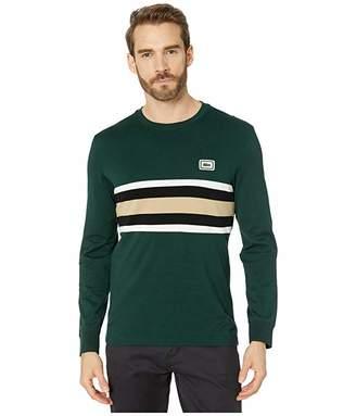 Lacoste Long Sleeve Heavy Jersey Bold Stripe/Color Block T-Shirt Regular