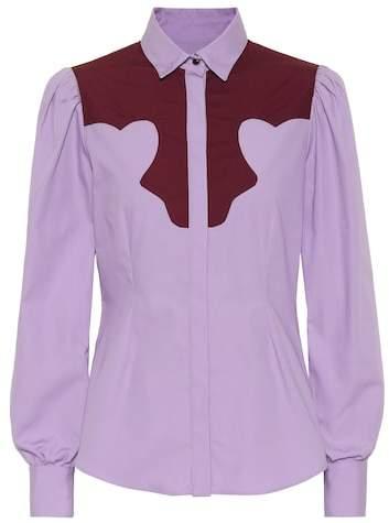 ALEXACHUNG Cotton blouse