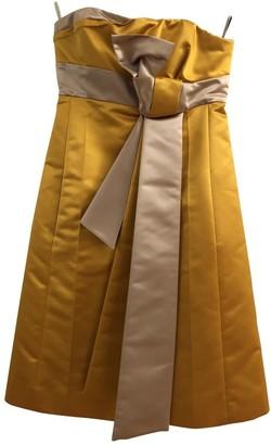 Celine Yellow Silk Dresses