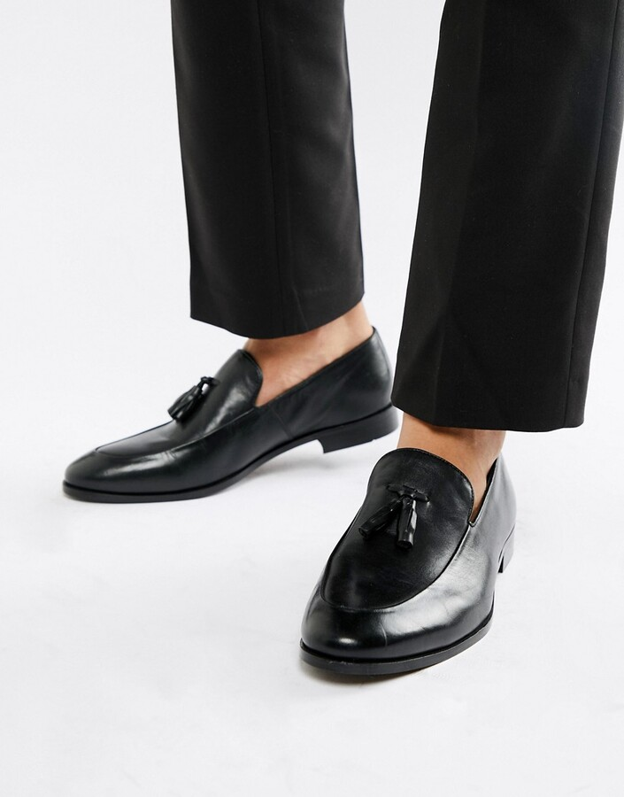 Thumbnail for your product : Zign Shoes tassel loafers in black leather