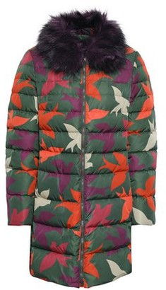 RED Valentino Quilted Faux Fur-trimmed Shell Down Jacket