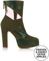 Terry De Havilland Aria Heeled Boots- Olive