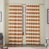 west elm Ikat Stripe Printed Curtain - Sweet Potato
