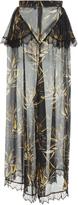 Rodarte Printed Silk Satin Pant