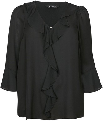 Evans Frill Front Top - Black