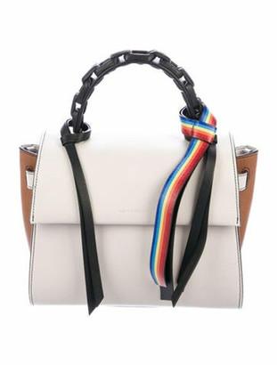 Elena Ghisellini Tricolor Sensua Handle Bag Silver