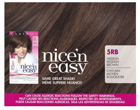 Clairol Nice 'n Easy Color Blend Foam Medium Reddish Brown 5RB