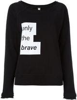 Diesel motto print sweatshirt - women - Cotton/Polyester - L