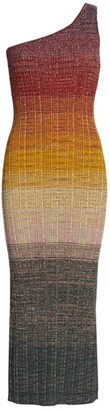 Missoni Ombre One-Shoulder Wool-Blend Knit Midi Dress