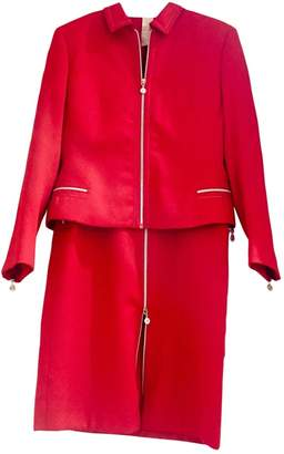 Gianni Versace Red Wool Dress for Women Vintage
