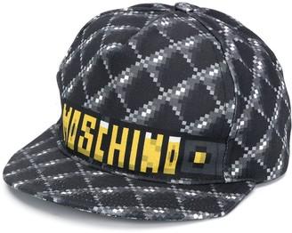 Moschino Pixel-Style Logo-Print Baseball Cap