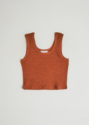 Which We Want Women's Lucy Knit Tank Top in Amber, Size Large | Spandex