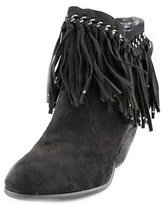 Not Rated Alina Women Round Toe Synthetic Black Bootie.
