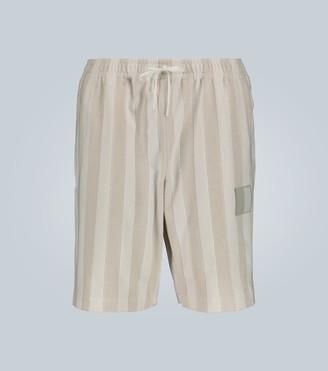 Fendi Striped toweling shorts