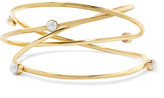 Cornelia Webb - Gold-pleated Pearl Arm Cuff - One size