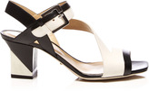 Sergio Rossi Zed Two-Tone Leather Sandals