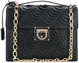 Salvatore Ferragamo laser-cut medium flap bag - women - Calf Leather - One Size
