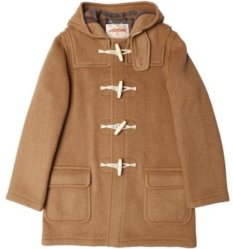 Burrows & Hare - Brown Water Repellent Wool Duffle Coat - S - Leather