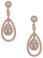 Anne Klein Cubic Zirconia Orbital Drop Earrings