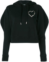 DSQUARED2 cropped hooded sweatshirt - women - Cotton - S