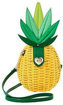 Betsey Johnson Pineapple Straw Cross-Body Bag