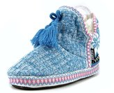 Muk Luks Sweater Women US 9.5 Multi Color Slipper