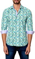 Jared Lang Abstract Long Sleeve Trim Fit Shirt