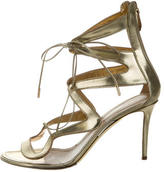Nicholas Kirkwood Metallic Leather Cage Sandals