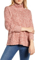 Lou & Grey Marled Knit Turtleneck Tunic Sweater