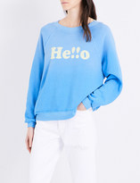 Wildfox Couture Hello printed cotton-jersey sweatshirt