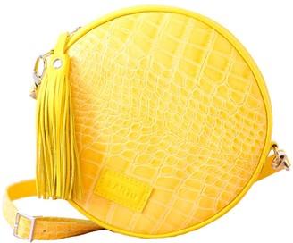 "Kartu Studio Natural Leather Cross Body Bag Clutch ""Muscat"" Yellow Croc Print"