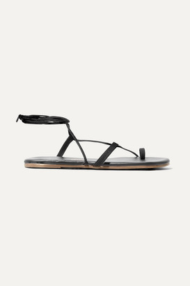 TKEES Jo Suede And Leather Sandals - Black