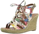 Sugar Women's Espadrille Wedge Sandal with Lace-Up Ghillie,7.5 M US