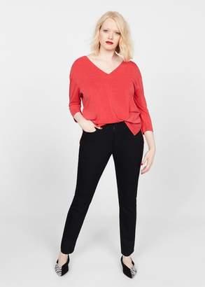 MANGO Violeta BY Modal t-shirt ecru - XS - Plus sizes