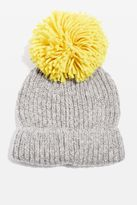 Big knitted pompom beanie hat