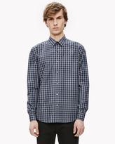 Theory Cotton Plaid Slim Shirt